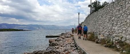 Wandelen langs de Adriatische zee