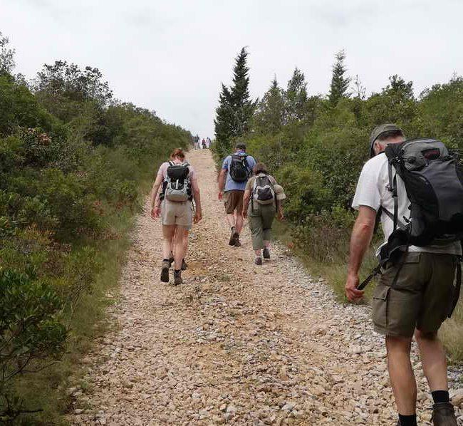 Wandelen langs de Adriatische zee, Kroatie