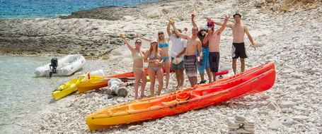 Zee kajakken en snorkelervaring